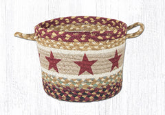 UBP-357 Burgundy Star Utility Basket