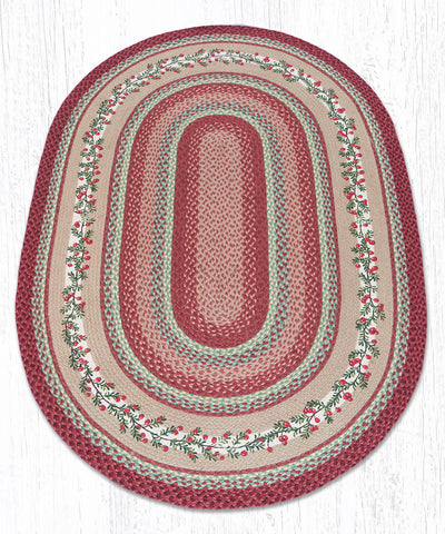 OP-390 Cranberries Oval Rug 4'x6' Oval