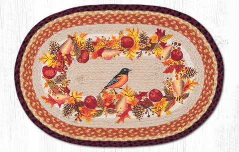 OP-431 Autumn Oriole Oval Rug