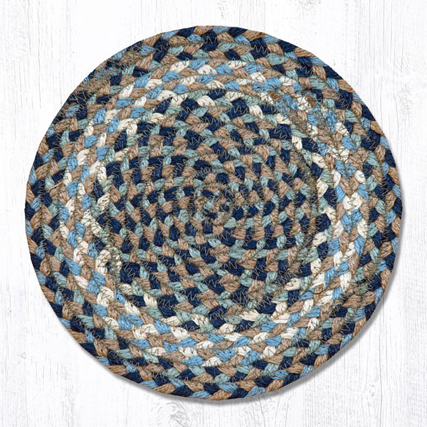 Ms 005 Blue Natural Miniature Trivet The Braided Rug Place