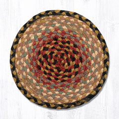 MS-057 Burgundy/Gray/Cream Miniature Trivet