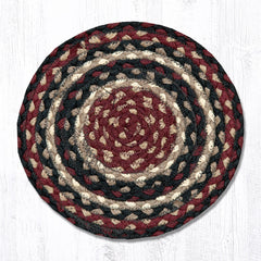 MS-344 Burgundy/Black/Tan Miniature Trivet