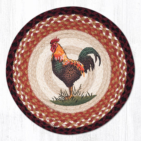 PM-RP-471 Rustic Rooster Round Placemat