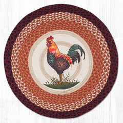 RP-471 Rustic Rooster Round Rug