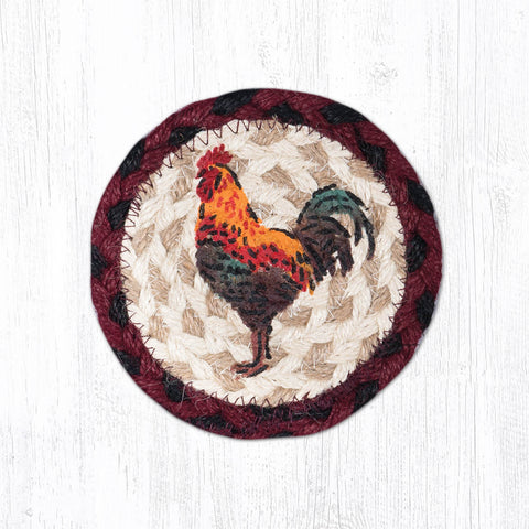 IC-471 Rustic Rooster Individual Coaster