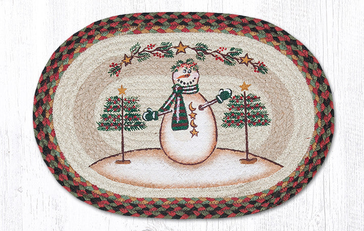 "PM-OP-081 Moon & Star Snowman Placemat 13""x19"""