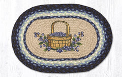 "PM-OP-312 Blueberry Basket Placemat 13""x19"""