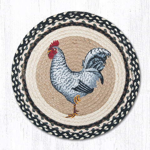 CH 430 Black U0026 White Rooster Chair Pad