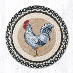 CH-430 Black & White Rooster Chair Pad