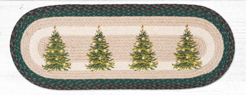 TR-508 Christmas Tree Oval Table Runner