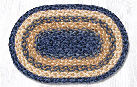 PM-079 Light Blue/Dark Blue/Mustard Jute Placemat