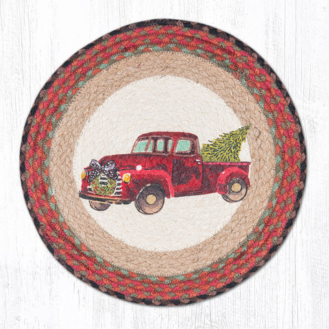 PM-RP-530 Christmas Truck Round Placemat