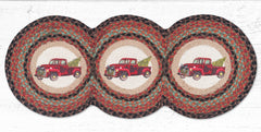 TCP-530 Christmas Truck Tri Circle Table Runner