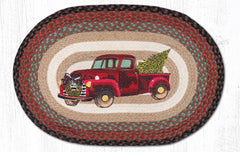 OP-530 Christmas Truck Oval Rug