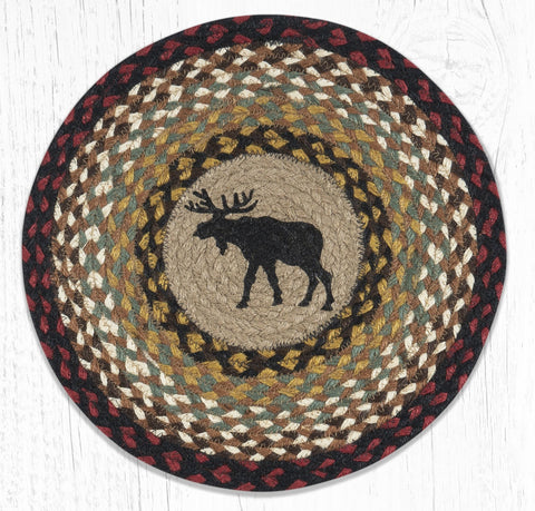 PM-RP-019 Black Moose Round Placemat