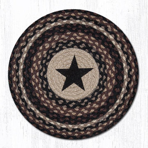 PM-RP-313 Black Star Round Placemat