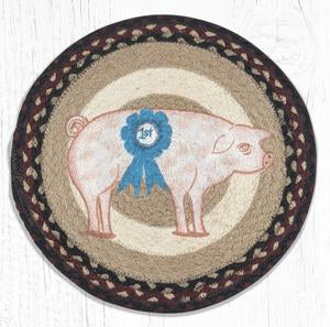 PM-RP-344 Farmhouse Pig Round Placemat