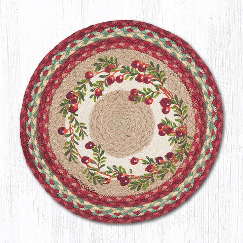 PM-RP-390 Cranberries Round Placemat