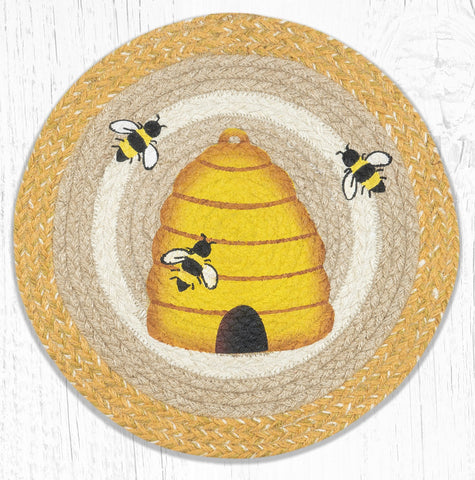PM-RP-9-101 Beehive Round Placemat