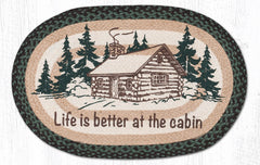 OP-597 Life Is Better At The Cabin Oval Rug