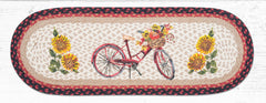 TR-602 Red Bicycle Oval Table Runner