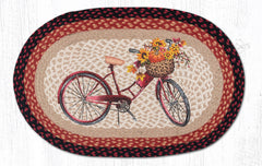 OP-603 Red Bicycle Oval Rug