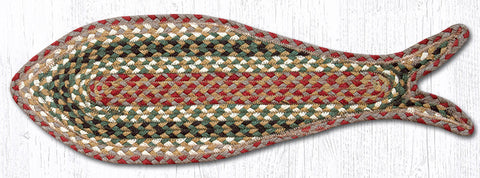 FC-024 Olive/Burgundy/Gray Fish Rug