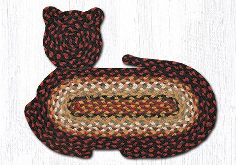 CT-319 Burgundy/Mustard/Ivory Cat Rug