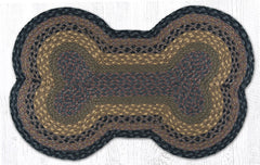 DB-099 Brown/Black/Charcoal Dog Bone Rug