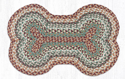 DB-413 Buttermilk/Cranberry Dog Bone Rug