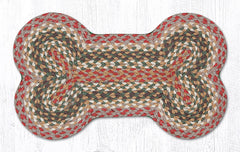 DB-024 Olive/Burgundy/Gray Dog Bone Rug