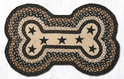 DBP-313 Black Stars Dog Bone Rug