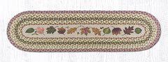 TR-024 Autumn Leaves Oval Table Runner