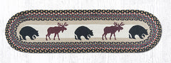 TR-043 Bear Moose Oval Table Runner