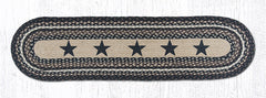 TR-313 Black Stars Oval Table Runner