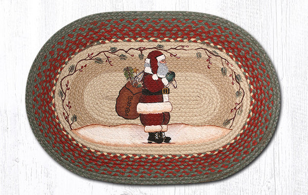 Op 025 Santa Oval Rug The Braided Rug Place