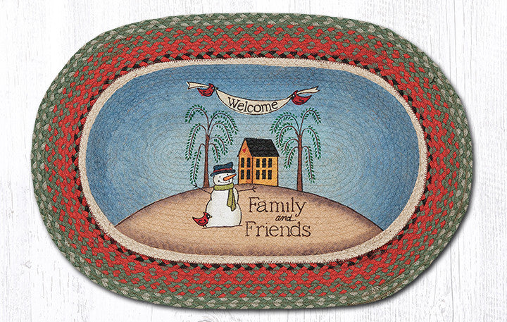 OP-025 Welcome Family Oval Rug