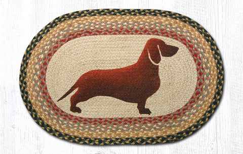 OP-057 Dachshund Oval Patch Rug