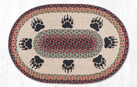 OP-081 Bear Paw Oval Patch Rug