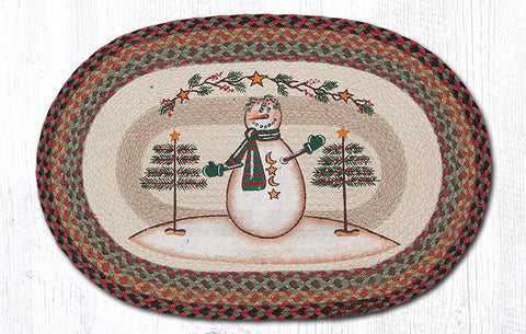 OP-081 Moon & Star Snowman Oval Rug