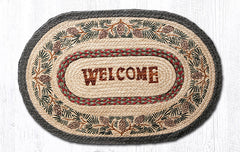 OP-081 Pinecone Welcome Oval Rug
