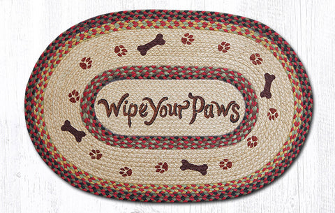 OP-081 Wipe Your Paws Oval Patch Rug