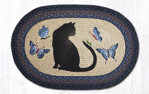 OP-100 Cat/Grasshopper Oval Rug