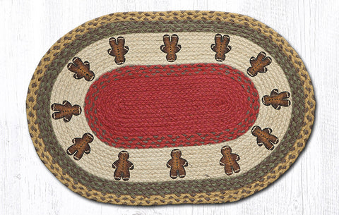 OP-111 Gingerbread Men Oval Rug