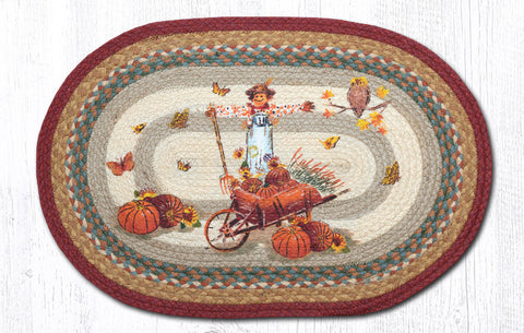 OP-222 Pumpkin Celebration Oval Patch Rug