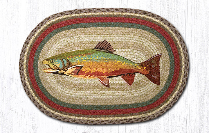 OP-244 20x30 Trout Oval Patch Rug