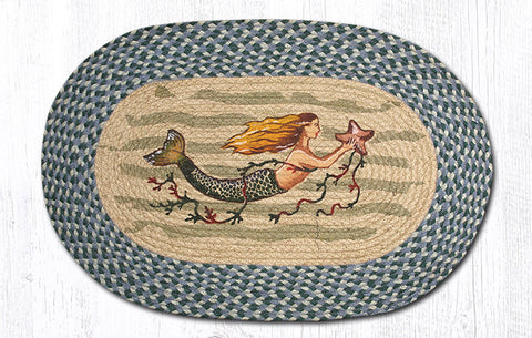 OP-245 20x30 Mermaid Oval Rug