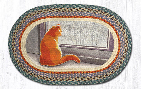 OP-250 Window Cat Oval Rug