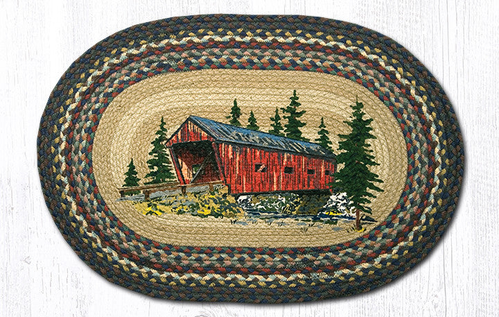 OP-304 Covered Bridge Oval Rug