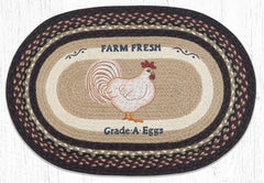 OP-344 Farmhouse Chicken Oval Rug